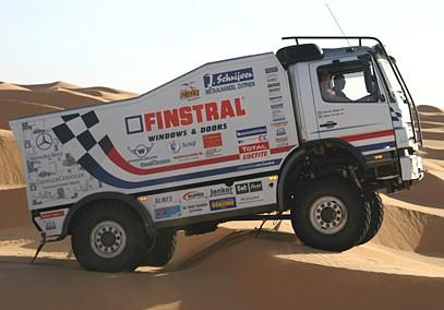 Finstral Dakar truck rijdt op ZIPtuning