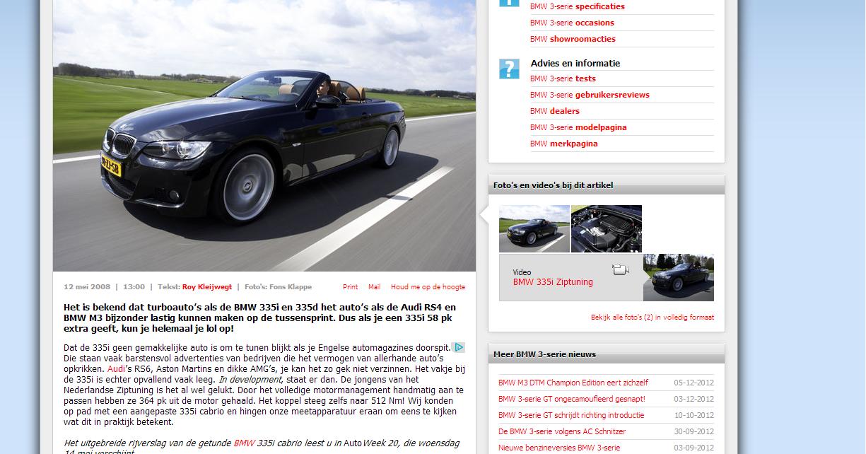 AutoWeek BMW 335i
