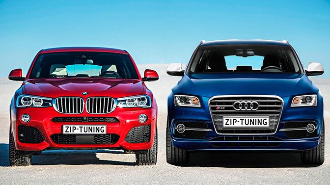 Dynowar Audi SQ5 3.0d versus de BMW X4 35d