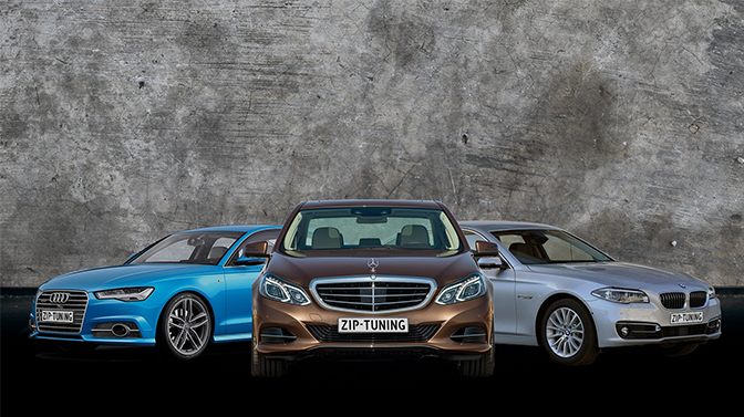 Dynowars tussen BMW 520d, Mercedes E220 en Audi A6