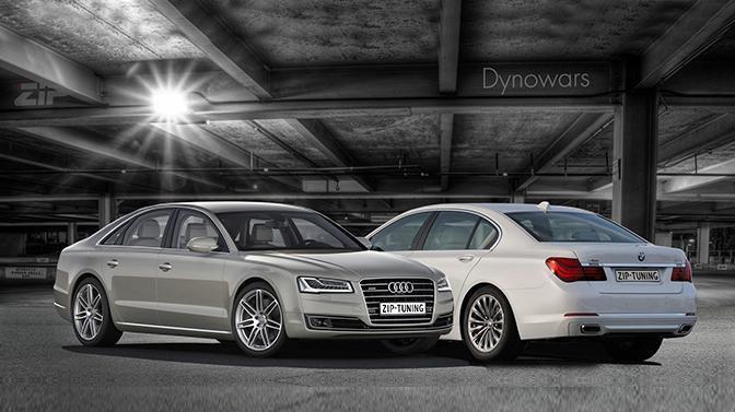 Dynowars: Audi A8 vs BMW 740i
