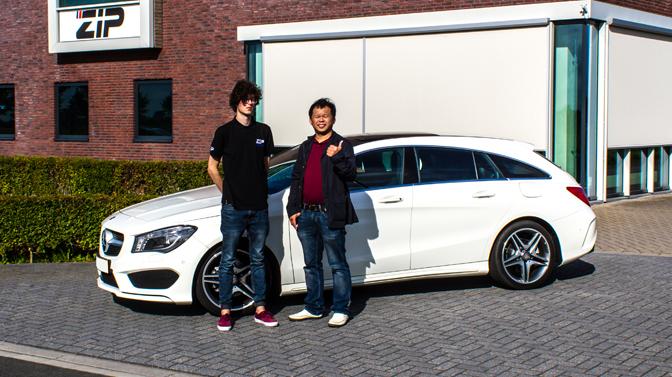 Alvin Sung en zijn Mercedes Benz CLA 180 CGI 1.6T
