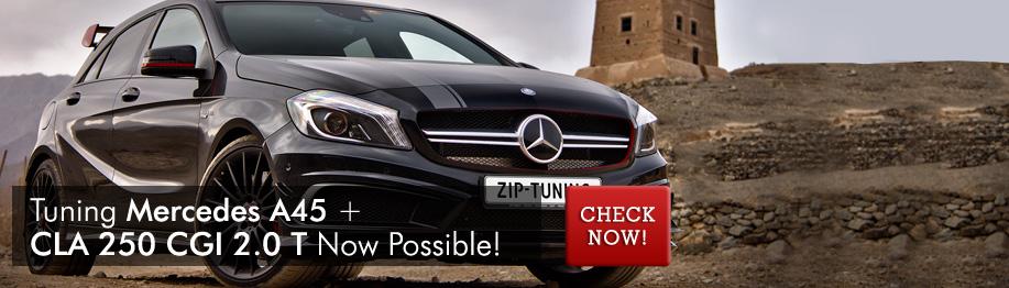 Chiptuning Mercedes A45 + CLA 250 CGi