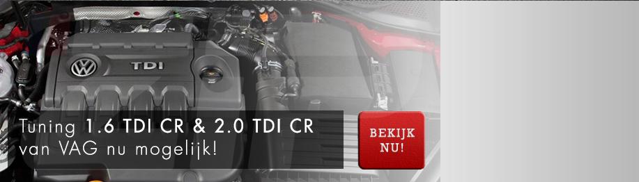 Tuning 1.6 TDI CR & 2.0 TDI CR nu mogelijk!